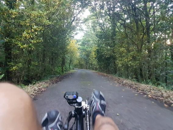Randonnée en vélo-couché à Marelongue Saint Philippe par les hauts Ile de la Réunion Atmosphère Péi