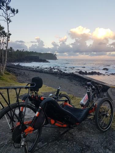 Atmosphère Péi balade écotouristique en vélo-couché à Saint Philippe ile de la Réunion
