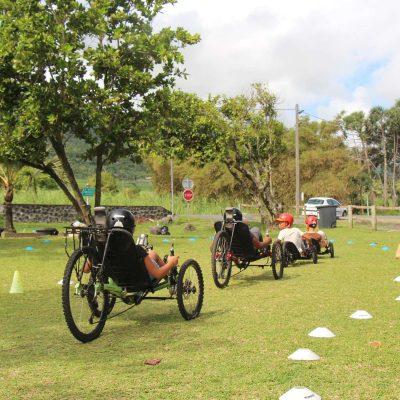 Atelier pour les enfants en vélo-couché Ile de la Réunion