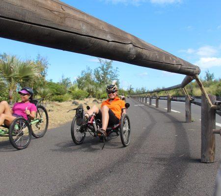 Balade contée entre mer et forêt en vélo-couché à Etang-Salé