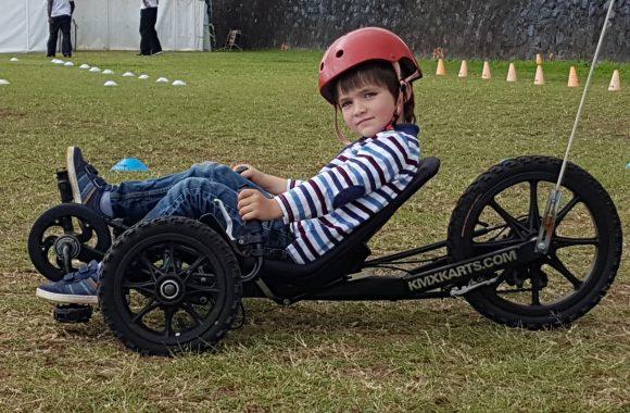 Activité vélo-couché enfants anniversaire