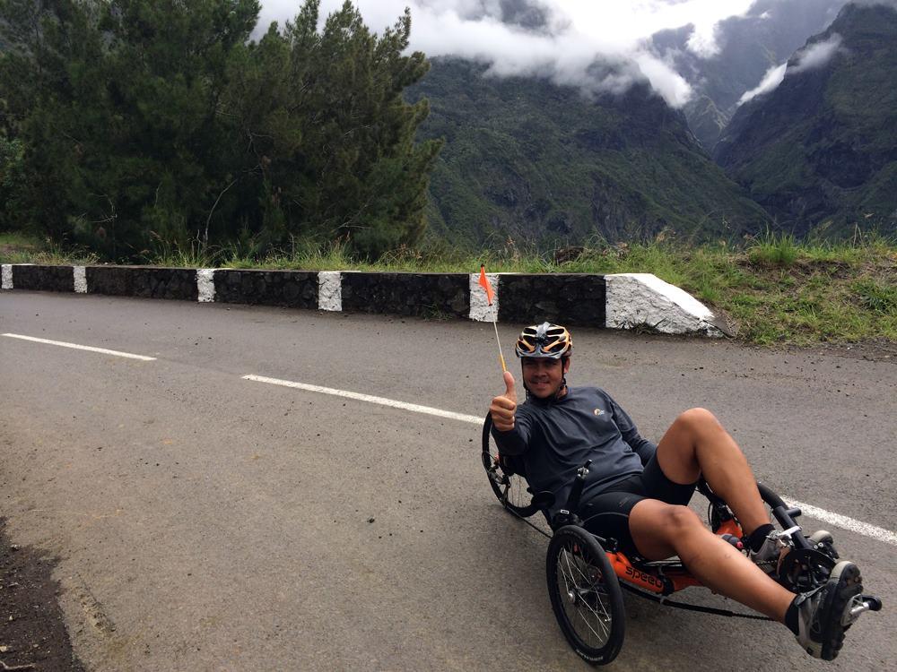 Balade en vélo-couché un vrai bonheur personnalisé et coaché Ile de la Réunion parcours pour sportif