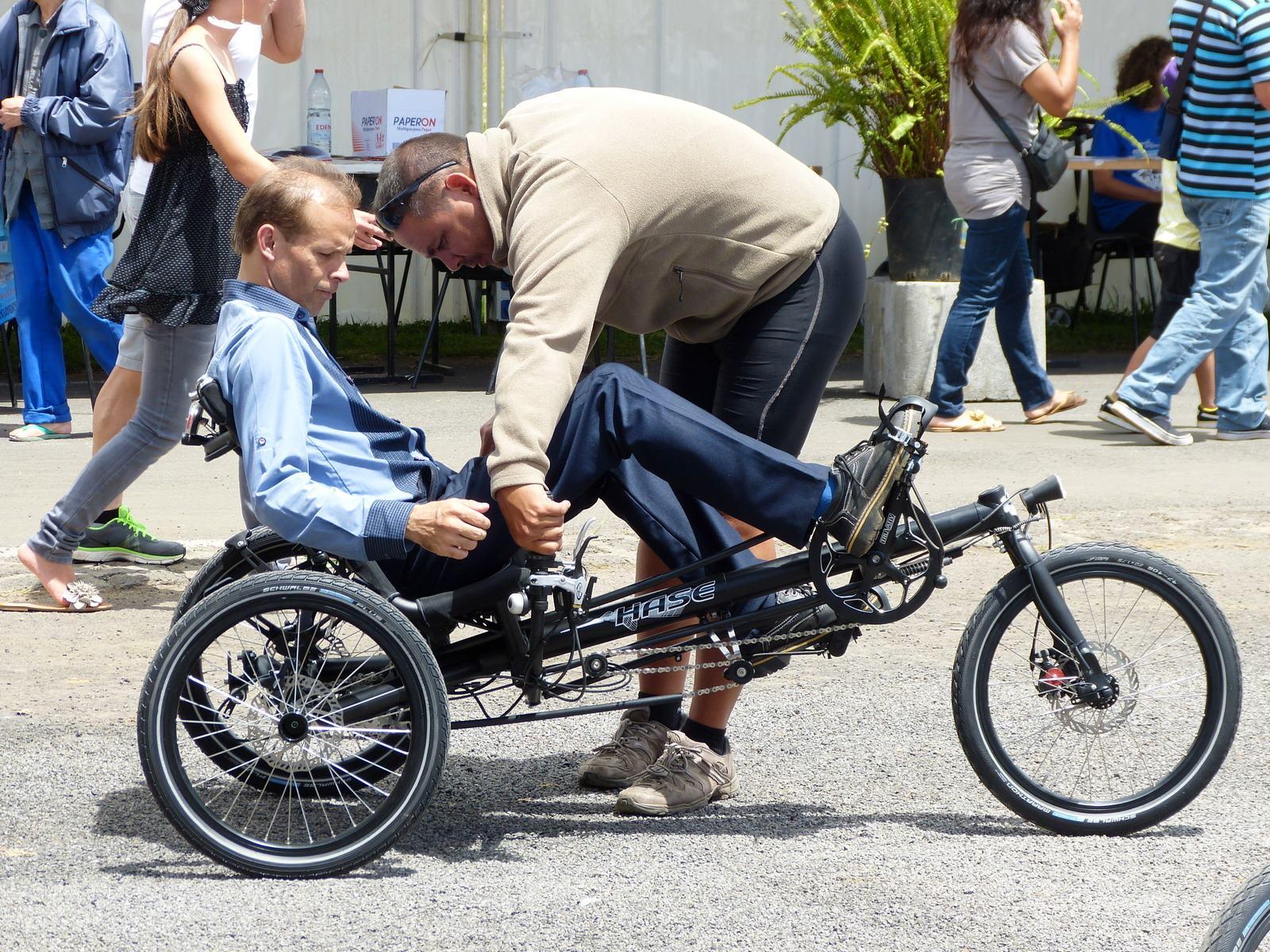 vélo-couché adapté à l'handicap Ile de la Réunion