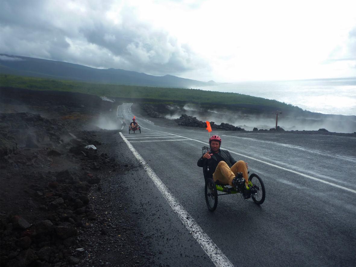 balade route confortable en vélo-couché ile de la Réunion