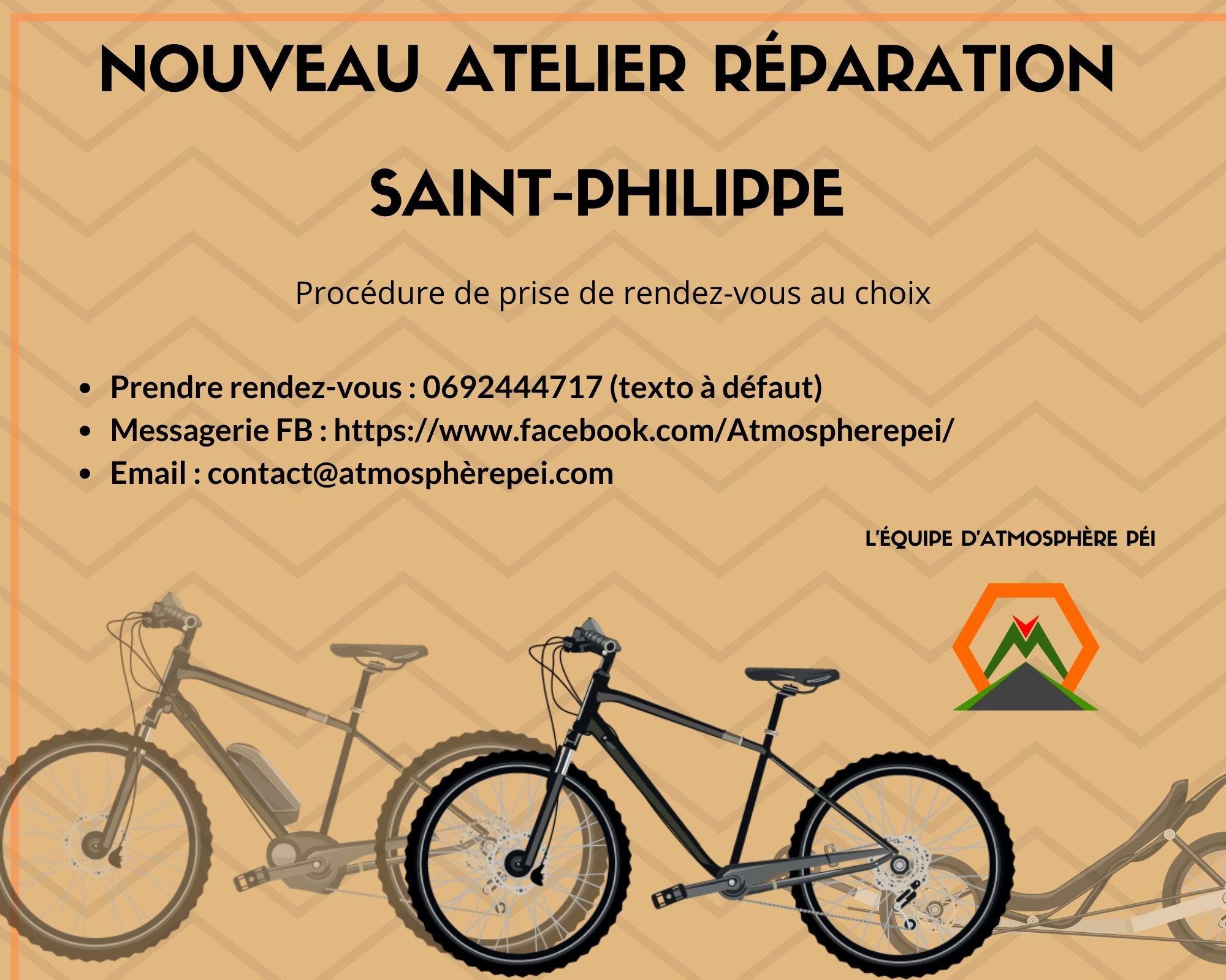 vélo réparation cycles Atmosphère Péi La Réunion Saint-Philippe