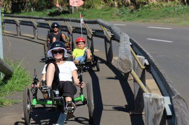 Balade avec les enfants à Etang-Salé Atmosphère Péi balade famille en vélo-couché