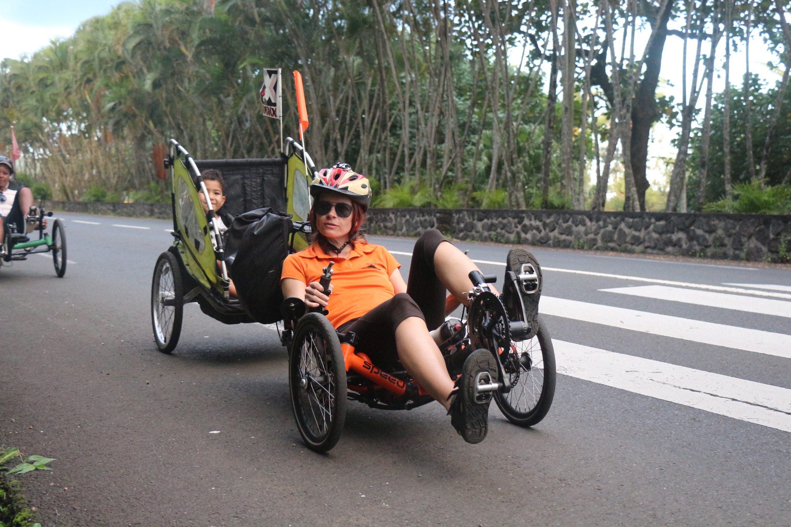 Vélo-couché à Saint-Philippe en famille et amis