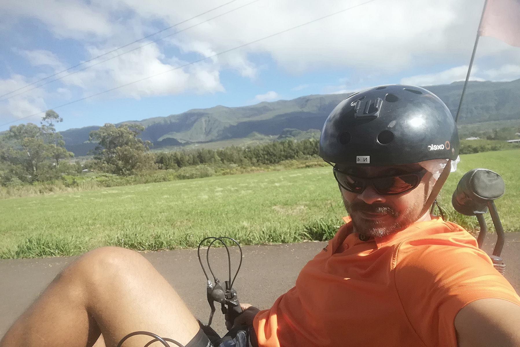 Virée sur la Route des Laves en vélo-couché Ile de la Réunion