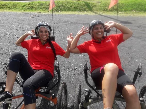 Fun à la Rivière des Roches Bras Panon Ile de la Réunion vélo-couché
