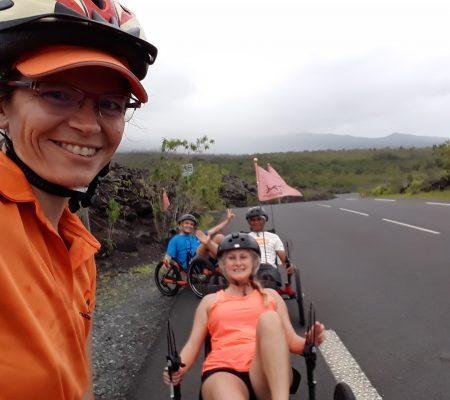 Virée en vélo-couché sur la Route des Laves Ile de la Réunion