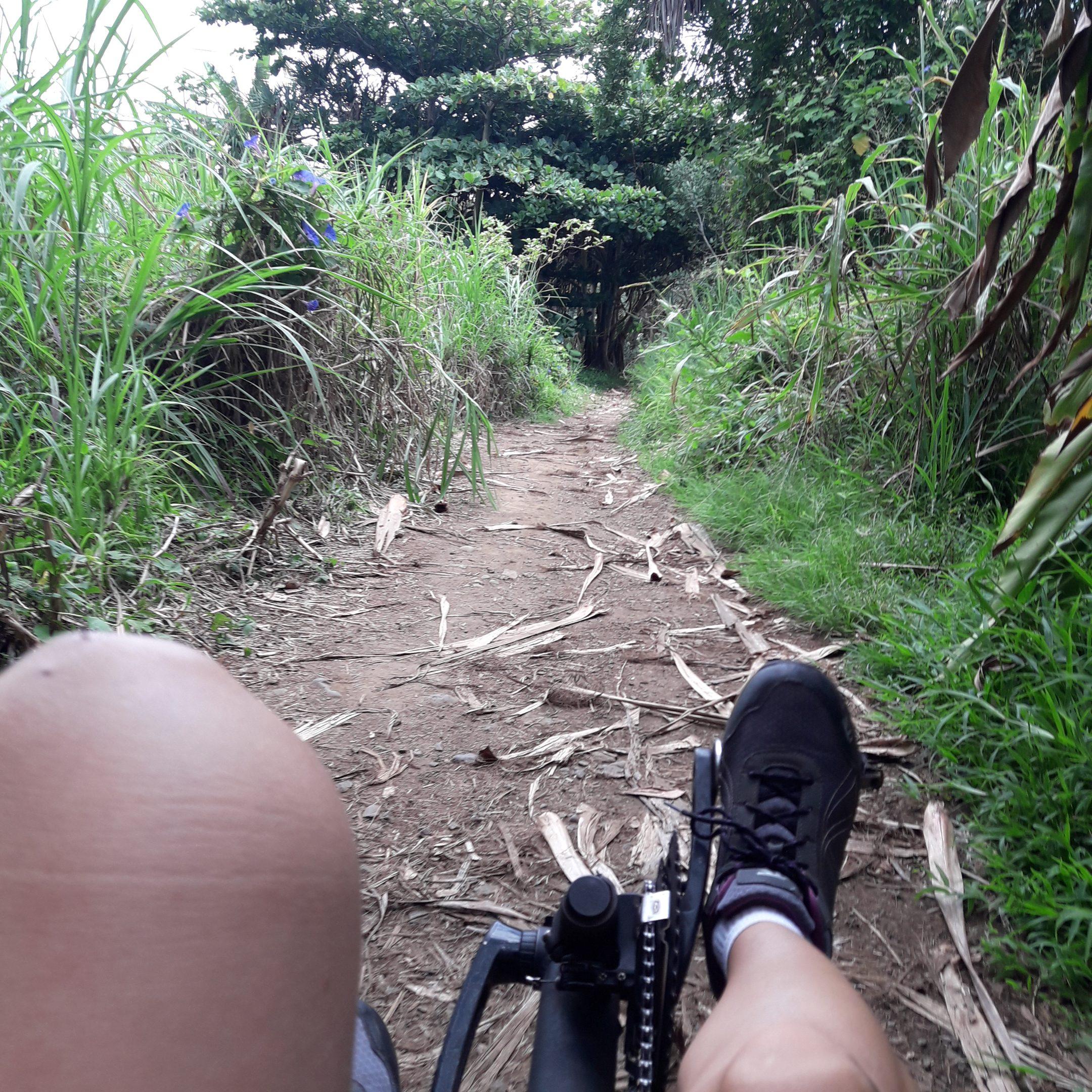 Rivière des roches Bras Panon en vélo-couché