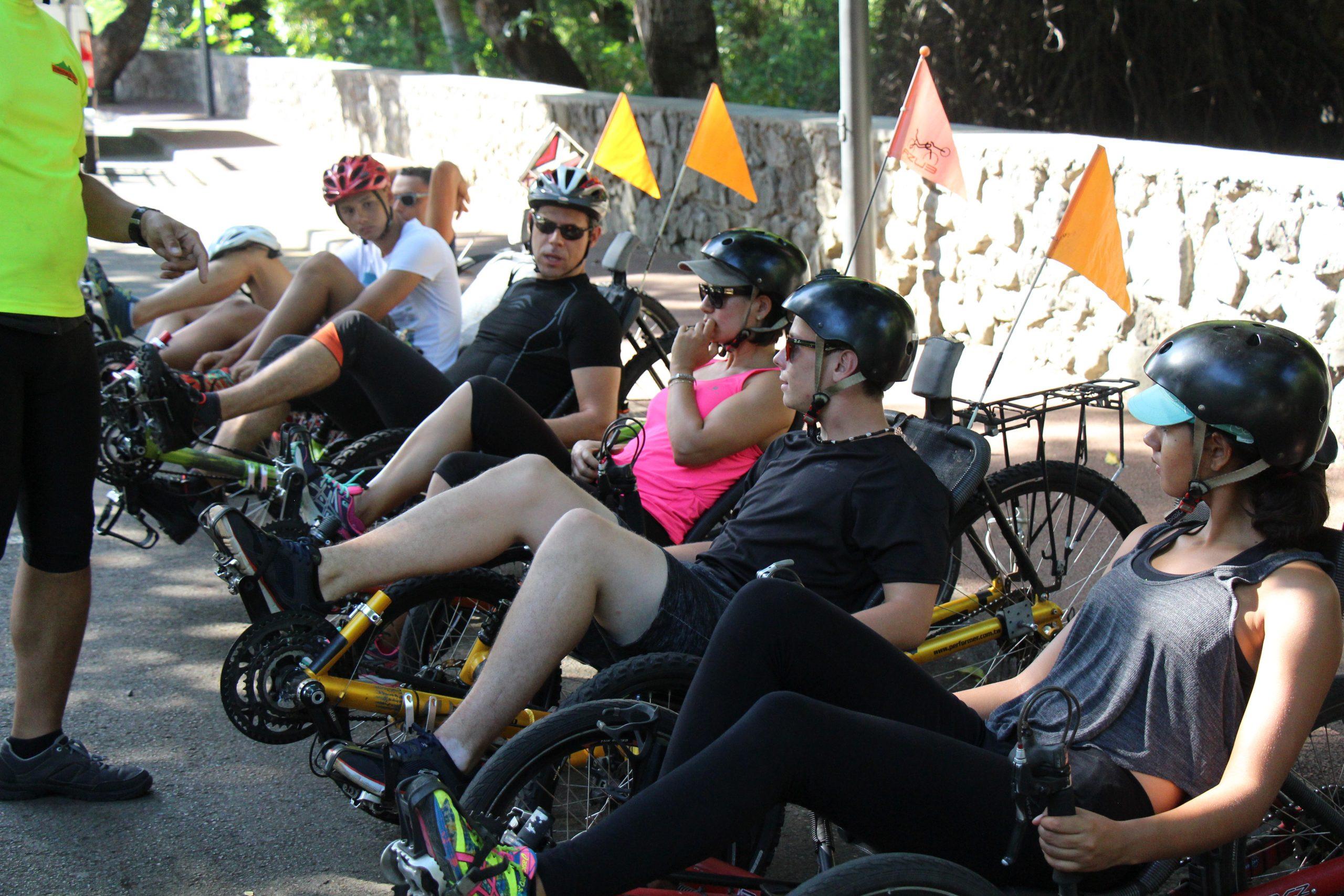 Briefing vélo-couché randonnée en vélo-couché Saint-Paul ile de la Réunion